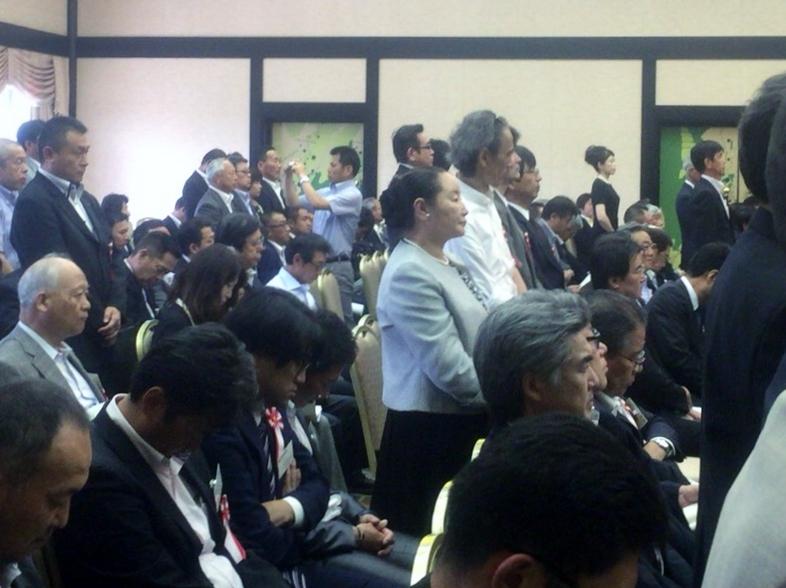 全国から参集された盛大な表彰式でした。(中央が太田ひとみさん)